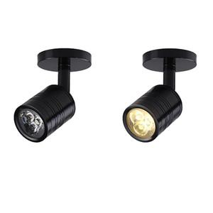 3W 5W LED blanco mini lámpara montaje en superficie de luz de joya Gabinete de lámpara del proyector AC85-265v Mini contador de luz