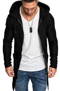 Tasarımcı Erkek Swallow Kuyruklu Paltolar Fermuar Fly Katı Homme Uzun Coats Erkek Kemer Şapka Yaka Coat