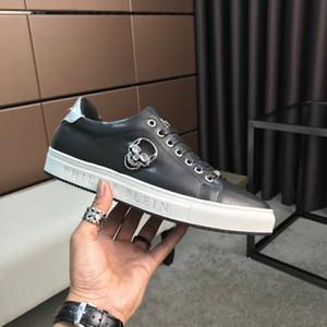 Мужская высококачественная кожа pp череп мужская повседневная обувь мужская спортивная обувь размер: 38-44 HT36