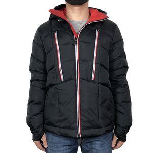 piumino degli uomini con cappuccio da uomo 3 cuciture colore parka invernali cerniera homme piume d'anatra bianca cappotti uomini Gree piumino uomo (UK L = XXL)