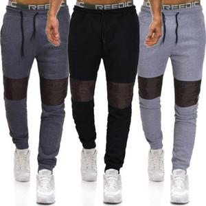 Hombres Pantalones largos de deporte ocasional de gimnasio del ajustado de los pantalones de gimnasia Correr Joggers pantalón para hombre Enfriar Negro gris lápiz de los pantalones