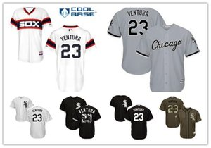 gratuit bateau sur mesure Chicago Sox ChicagoWhite 23 Robin Ventura maillot de baseball des White Sox hommes vêtements de baseball femmes maillots de jeunes