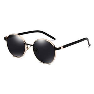 Личность HD Солнцезащитные очки, Мода Высокое Качество Мужчины и Женщины Мода Зеркало Металлические Рамки Солнцезащитные очки с круглыми солнцезащитные очки Подарочная коробка