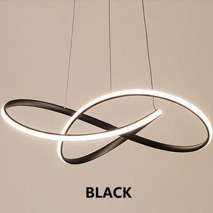침실 주방 조명기구의 경우 램프 간단한 음표 곡선 빛 매달려 현대 LED 펜던트 조명 북유럽 스타일