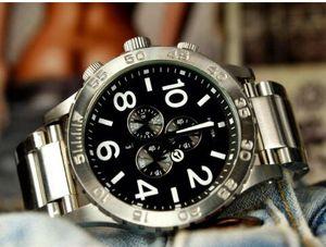 A083-100 Quartz do NX Homens frete grátis Relógios THE 51-30 CHRONO New Assista Mens 51-30 CHRONO Prata Branco A083100