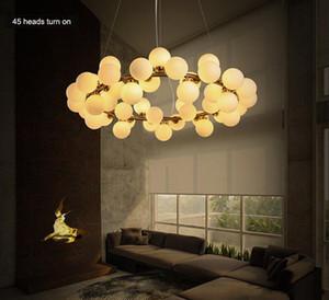 LED Loft boule en verre Pendant Light 25/45 Têtes rondes Modo en verre Lustre Island restaurant The Living Room Lampe LLFA