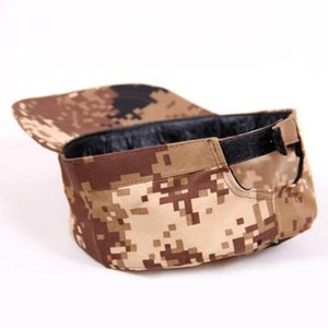 Camuflaje ajustable Visera Sombrero Cadet patrulla del ejército Cap Combat Caza Fatique guardabosques Headwear transpirable