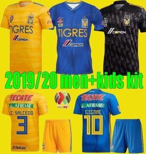 Nuevo León 2019 2020 7 Star hombres Naul Tigres Tercer fútbol jerseys 20 21 Camiseta de pie Maillot GIGNAC para niños Kit de las camisas del fútbol