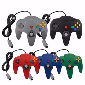 Para n64 gamepad wired game usb joystick game console force feedback flexível para gamecube para windows mac