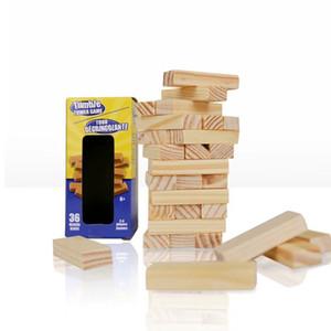 36 قطعة دخول الملونة مكدسة بناء كتل خشبية برج السقطة لعبة الأسرة الأطفال الرقمية ألعاب حديقة لعبة