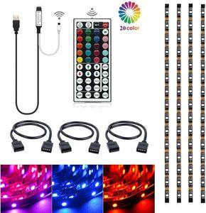 TV الخلفية DC5V USB كابل RGB LED مرنة قطاع SMD5050 ضوء الخلفية التحيز الإضاءة لHDTV TV PC مراقب مسرح منزلي ديكور