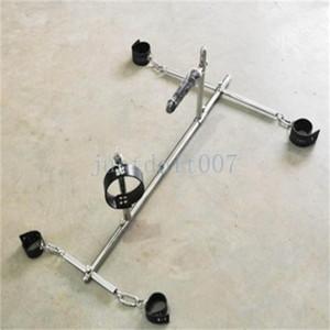 Slave Manschetten Rack-Halsband aus Leder Wiedergabe Abschließbare # R43 Stahl Restraint Spreader Bar Rahmen Hjoqt