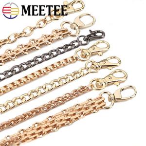 Meetee 100-120cm Catene della borsa della catena Borse Tracolla borsa in metallo con sostituzione Buckle Bag di ricambio Accessori AP2379