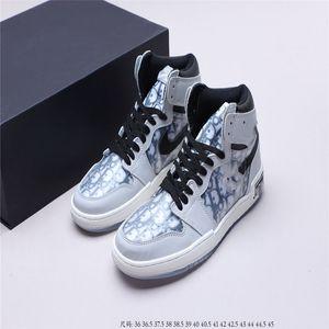 Dior x Air Jordan 1 High OG 2020 nueva llegada mujeres Negro antracita ISPA SP SOE de los hombres de los zapatos corrientes Terra naranja Cojín Fantasma Blanco para hombre de las z