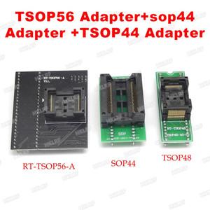 Freeshipping En Kaliteli TSOP56 Adaptörü + SOP44 DIP44 adaptör soketi + TSOP48 DIP48 RT809h emmc-nand flaş programcı için Adaptör Soket