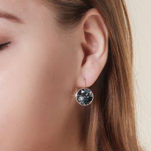 2019 Новый дизайн Белла серьги Позолоченные Swarovski Elements Кристалл мотаться для женщин Мода Круглые серьги Свадебные ювелирные изделия
