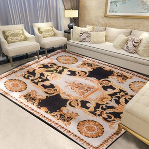 Cross-Border Exclusive European and American Popular Brand Carpet Living Room Sofa Coffee Table Mat Hoodie Decoration Carpet Brand Customiza