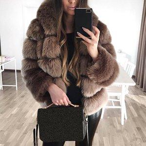 Di lusso in pelliccia Outwear 2019 Spesso un aumento della temperatura in pelliccia cappotto con cappuccio manica lunga donne giacca Donne Casual Oversize Hoody cappotto 3XL