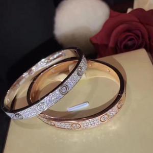 Hot Luxury Designer Jewelry Women Mens Bracelets Love Bracelet Full Diamond Bangles Rose Gold Silver Screw Bracelet With Original Box