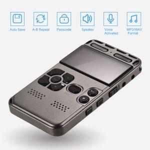 المنشط 8GB 16GB 32GB المهنية صوت مسجل الصوت الرقمي مع شاشة LCD HD المحمولة الضوضاء مصغرة Reducation الإملاء