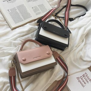 Color Collision Small Bag Female 2019 Peas Package Hundred And Up Limit Senior Foreign Atmosphere Texture Single Shoulder Slanting Satchel