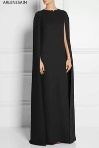 Arlenesain обычая 2019 новый плащ моды платье о-шеи черные элегантные сексуальные партии платья женщин