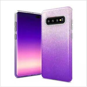 3 IN 1 Gradient Glitter Bunte Telefonkasten für Samsung-Anmerkung 9 Galaxy S10 S9 und Huawei Mate20 P30 Klar PC + TPU Coque Bling rückseitige Abdeckung