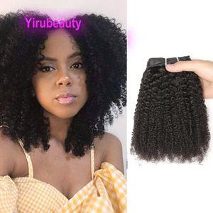 الشعر البشري الماليزي الأفرو غريب مجعد كليب في 8-24 بوصة اللون الطبيعي yirubeauty clip-ins الأفرو غريب مجعد 120 جرام ريمي الشعر