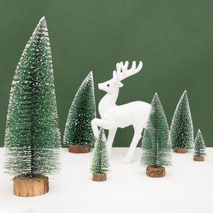 5 шт / комплект Mini Christmas Tree Таблица декора ПВХ Кедровые деревья Xmas Новогодние украшения для дома 2019