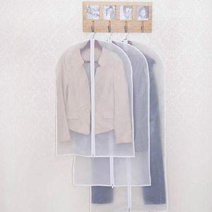 100pcs Cloth Dustproof Cover Garment Organizer Suit Dress Jacket Clothes Protector Pouch Travel Storage Bag With Wholesale