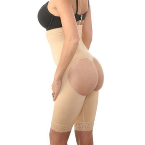Women Seamless lace edge high waist body shaping underwear siamese body shaper seamless body shaping buttock underpant