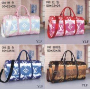 2019 Yeni tasarımcıların luxurys çanta çanta hakiki deri kaliteli çiçek deseni seyahat bagaj spor çanta ücretsiz gönderim