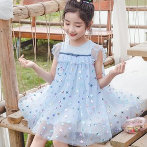 Summer Clothes Girls Dresses for Kids Party Princess Tutu Dress Baby Toddler Teen Blue Clothing Outfits Egirl Korean Birthday 6