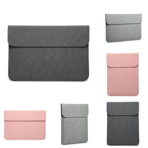 Wholesale Matte Magnetic Buckle Pu Laptop Sleeve Bag For Xiaomi Macbook Pro 13 Case Air 11 12 Retina 2020 New 15 Touch Bar Women Men er #502