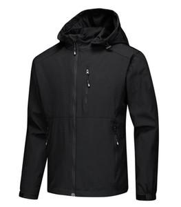 Kuzey Mens Tasarımcısı Kış Coat Casual Katı Renk Ceket Atletik Kapşonlu WINDBREAKER Sıcak Coat Asya Boyut Ücretsiz Kargo