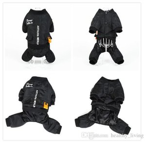 S-7XL HOOPET Winter Warm Large Dog Jumpsuit Clothes Warm Outerwear Waterproof Pet Coat Winter Jacket Four Legs Dog Clothes 010