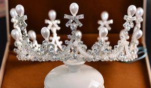 Compleanno Corona della sposa con Diamante perla corona e copricapo coreano Matrimonio Accessori Sposa