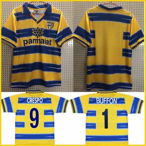 1998 1999 2000 camiseta de fútbol Parma Parma 98 99 casa BUFFON Crespo Thuram Baggio Jersey retro VERON Cannavaro camiseta de fútbol de época clásica