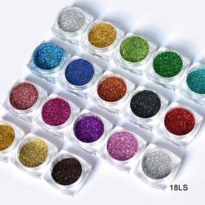1 상자 DIY 별이 빛나는 홀로그램 레이저 손톱 반짝이 가루 1ml Holo 먼지 매니큐어 네일 아트 반짝이 가루 장식, 18 색