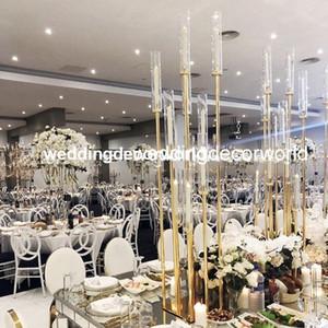 Stander hecho a mano del oro de la boda del nuevo estilo para el accesorio decor1112 de la boda de la decoración de la boda