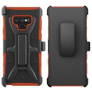 إلى Samsung Note 10 Plus A10E A20 A30 A50 S9 S10 E J2 Core J3 A6 2018 Note 9 VH Combo Belt Clip with Kickstand Holster واقية