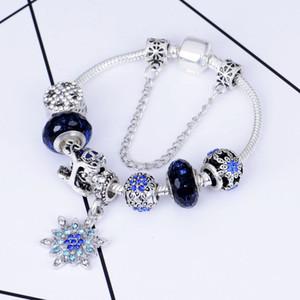 Weihnachten Charme-Korn-Armband-Legierungs-Armband-Anhänger Schneeflocke Armband-Charme-blauer Himmel Kürbis-Wagen-Korn als Geschenk Diy Schmuck