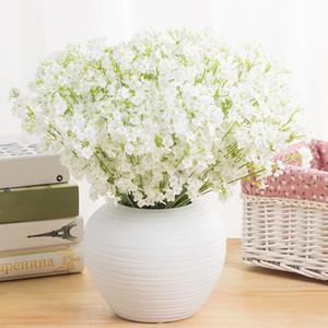 الزهور الاصطناعية 2 متشعب نجوم gypsophila وهمية الحرير زهرة النبات الرئيسية حفل زفاف لوازم الزفاف الديكور الحرير زهرة XD20450