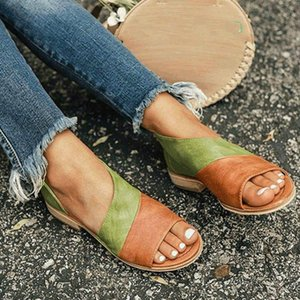 Oeak Women Flat Summer Sandals Ladies Gladiator Peep Toe 2010 New Fashion Platform Shoes Plus Size Female Casual Footwear 35-43
