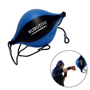 Punching Bag Adult Pear Sports Training Hanging Gym PU Leather Fitness Equipment Double End Boxing Speed Ball With Inflator T200416