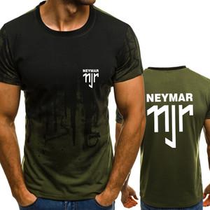 NEYMAR 11JR Gradient couleur T-shirt Hommes Compression Rapide Respirant Mens T-shirt Fitness O-Cou Manches Courtes Gymnases Tee Top