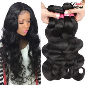 vague de corps de cheveux vierge malaisienne 3 faisceaux couleur nature vierge malaisienne extensions de cheveux humains faisceaux de tissage de cheveux malaysian
