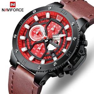 Montre NAVIFORCE Top Marque Homme Montres Chronographe Sport Waterproof Horloge Homme Montres de luxe militaire analogique Montre homme quartz