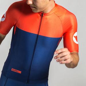 2020 de calidad superior del equipo profesional del areo la manga corta apretada color sólido camisa de la bici MTB ropa deportiva ajuste del verano de los hombres de ciclo Jersey