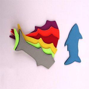 Os titulares dos desenhos animados Tubarão picolé Bolsa Pop Ice mangas anticongelantes Neoprene picolé de manga dom partido brinquedos para crianças Cozinha de Verão Ferramentas A4904